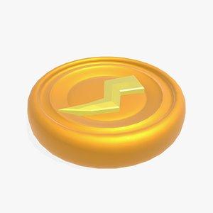 token spell lightning 3D model