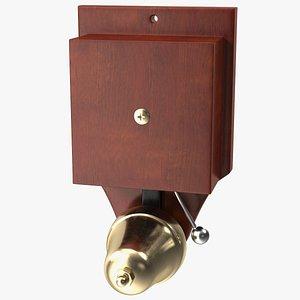 Wall Mounted Retro Striker Doorbell 3D model