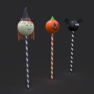3D Halloween Cake Pops