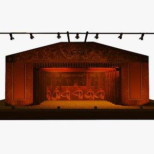 3D Virtual Wayang Stage