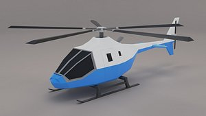 helicopter aircraft vehicle 3D