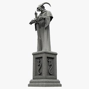 gothic statue 3D