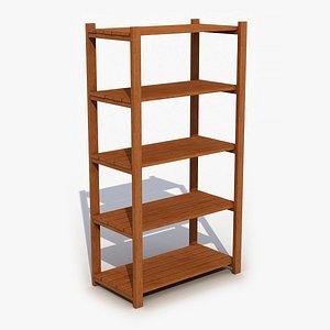 wooden shelves wood model