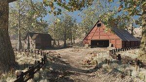 3D Barn Scene
