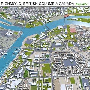 3D Richmond British Columbia Canada model