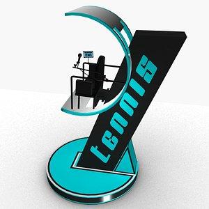tennis umpire chair 3D