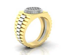 mens ring rolex style model