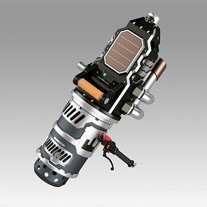 3D model Apex Legends Fuse launcher prop replica