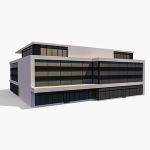 3D Commercial Building 010 model