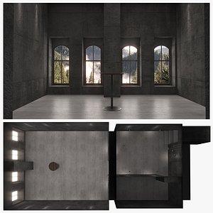 3D interior architecture scene