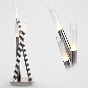 3D Icicle Contemporary Chrome Table Lamp