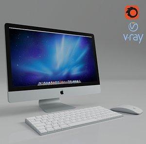 apple pc mouse keyboard 3D model