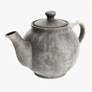 Ceramic teapot 02 3D model