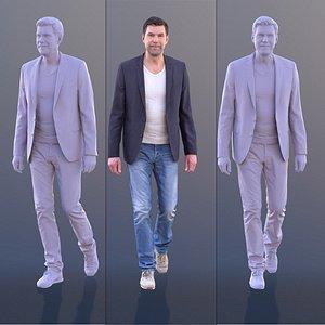 3D man casual walking
