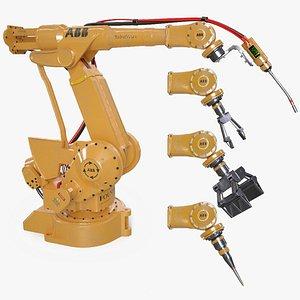 3D Industrial Robots model