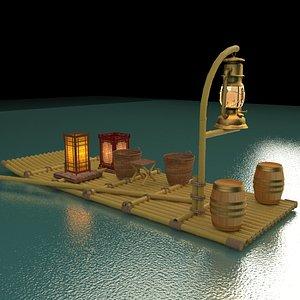 chinese fishing raft model