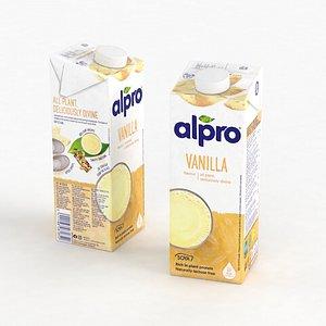 3D model Alpro Vanilla 1L 2021