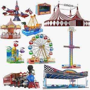 Largest Amusement Park Ride Collection 3D