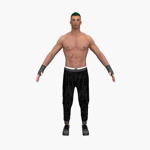 3D man guy model