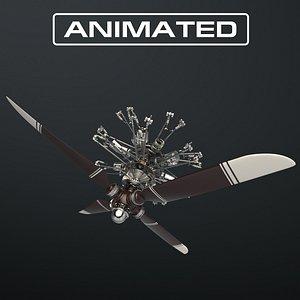 Aircraft Engine 3D