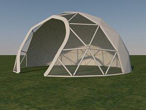 3D dome tent model