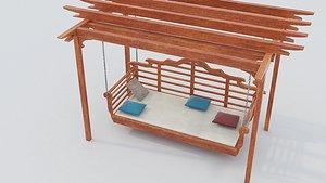 3D Wooden Swing