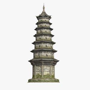 ancient buddhist pagoda model
