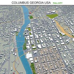 3D Columbus Georgia USA model
