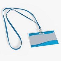 Identity card on strap narrow