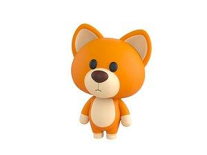 3D dog character model