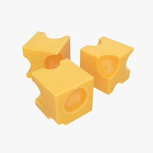 3D model cheese cube