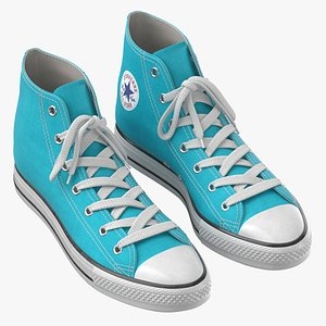 Basketball Shoes Light Blue 3D model