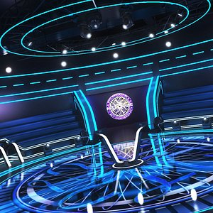 3D model wants millionaire tv studio