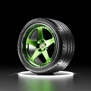 Car wheel Michelin Pilot Sport Cup 2 tire with HRE Calssic 305 3D model