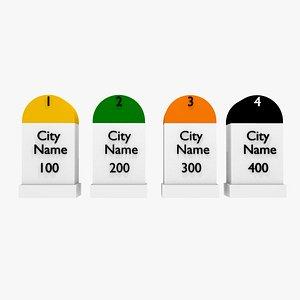 3D highways names cities