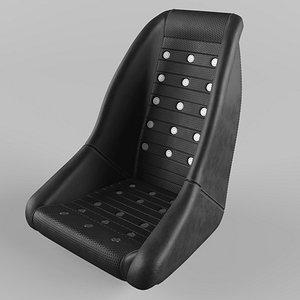 3D Retro Dune Buggy Ventilation Leather Black Seat model