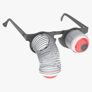 springy pop eye glasses 3D model
