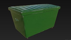 3D trash trashcan model