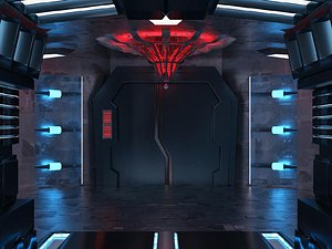 3D Virtual studio advertising bar package space capsule cosmic current effects futuristic science ficti