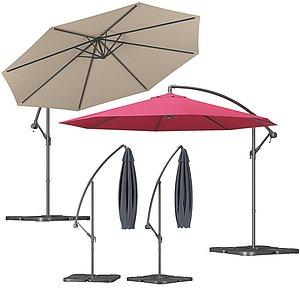 outdoor octagonal parasol 3D model