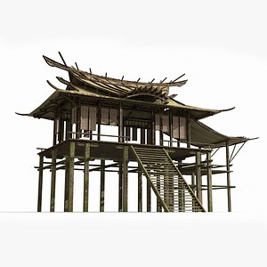simple ancient asian 3D model