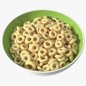 3D Oats Cereals Rings Breakfast