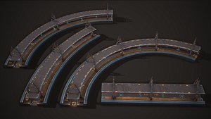 3D model sci-fi platform road