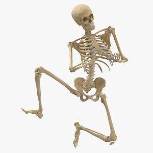 3D Real Human Female Skeleton Pose 73(1)