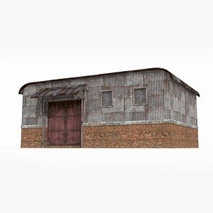 Future waste soil style small warehouse 3D