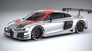 Audi R8 LMS GT3 2020 lowpoly 3D model
