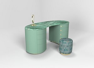 Passion Coiffeuse table model Armani Casa Series 3D model