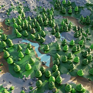 Low-Poly Valley 3D model