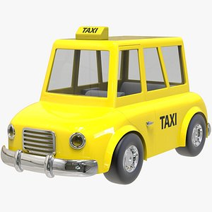 3D Taxicab Cartoon Car