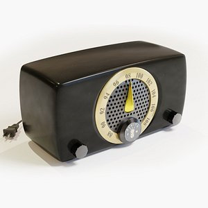 zenith 7h918 fm radio 3D model